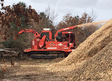 Land Clearing with Morbark Track Chipper